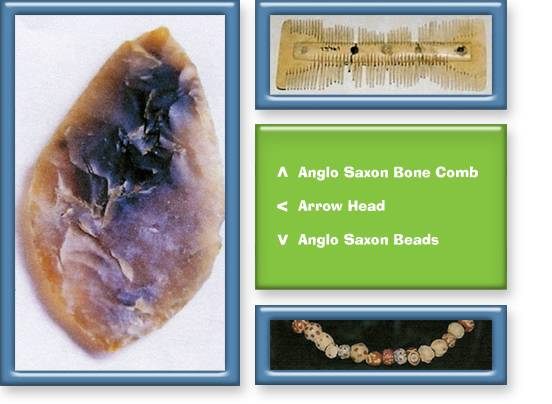 arrow head comb and beads