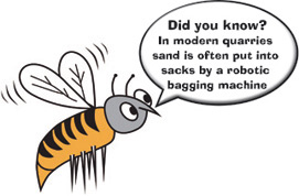 sand is often put into sacks by a robotic bagging machine
