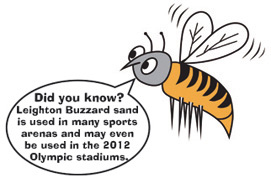 leighton buzzard sand is used in many sports arenas